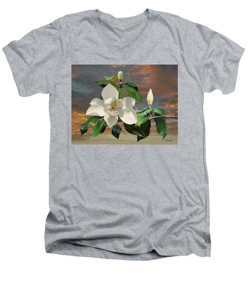 Magnolia Sunset Men's V-Neck T-Shirt