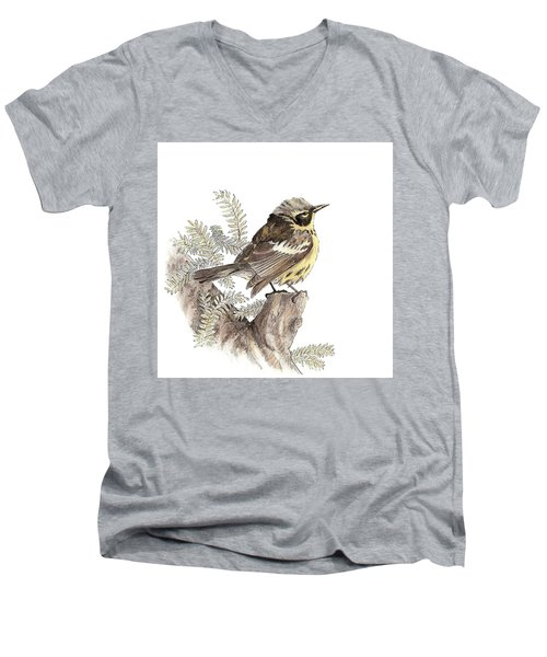 Magnolia Warbler Men's V-Neck T-Shirt