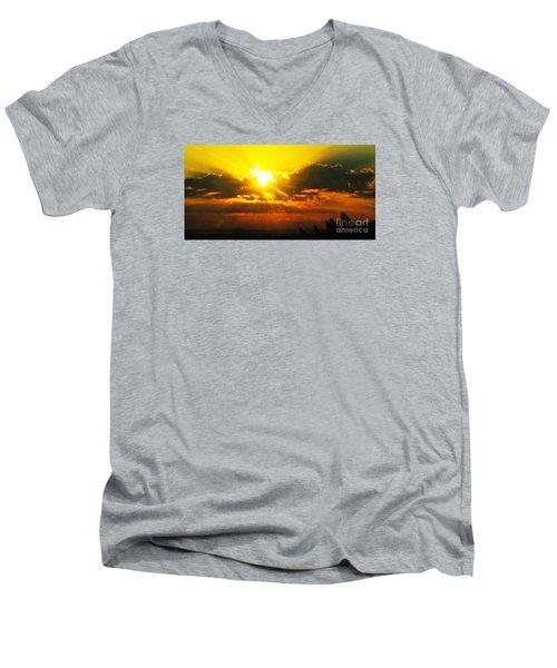 Mahlon Sweet Sunset Men's V-Neck T-Shirt