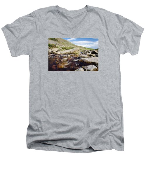 Mahon Falls And River Men's V-Neck T-Shirt by Martina Fagan