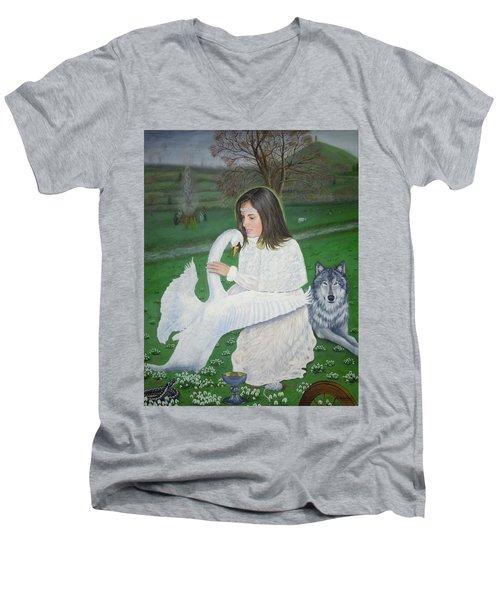 Maiden Goddess Brigit - Imbolc Men's V-Neck T-Shirt