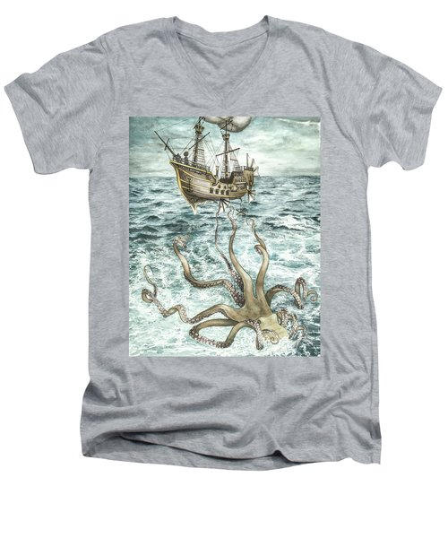 Maiden Voyage Men's V-Neck T-Shirt by Arleana Holtzmann