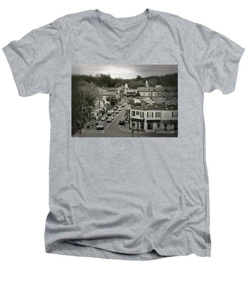 Main Street, Port Jefferson, Ny Men's V-Neck T-Shirt