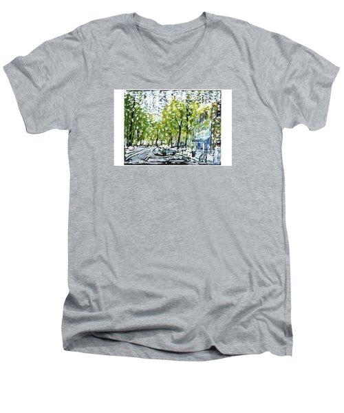 Main Street Snow Men's V-Neck T-Shirt