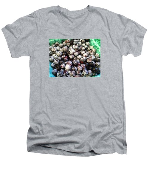 Maine Pearls Men's V-Neck T-Shirt by Olivier Calas