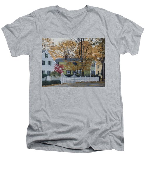 Autumn Day On Maine Street, Kennebunkport Men's V-Neck T-Shirt