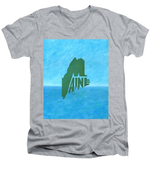 Maine Wordplay Men's V-Neck T-Shirt