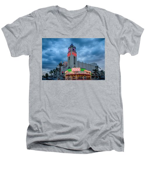 Majestic Fox Theater Tribute Merle Haggard Men's V-Neck T-Shirt