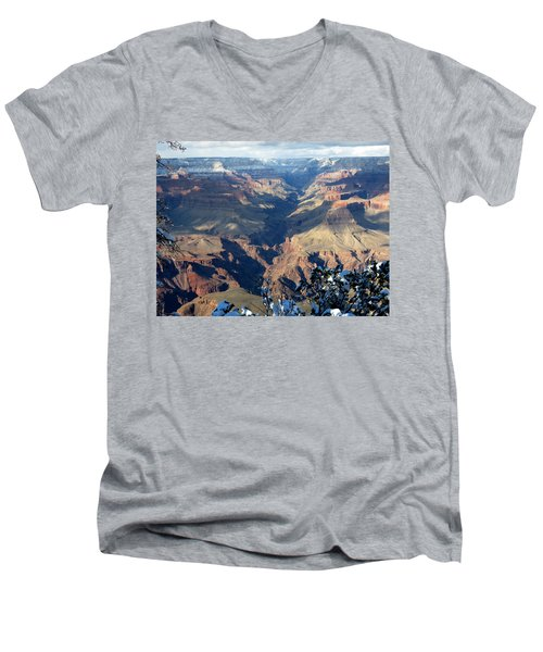 Men's V-Neck T-Shirt featuring the photograph Majestic Grand Canyon by Laurel Powell
