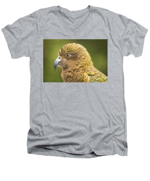 Kea Portrait Men's V-Neck T-Shirt