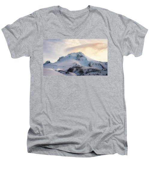 Men's V-Neck T-Shirt featuring the photograph Majestic Mt. Hood by Ryan Manuel