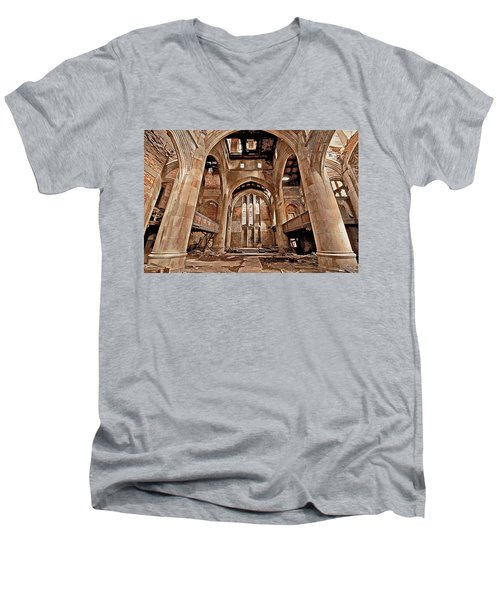 Men's V-Neck T-Shirt featuring the photograph Majestic Ruins by Suzanne Stout
