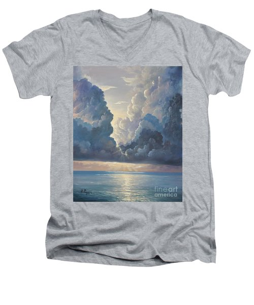 Men's V-Neck T-Shirt featuring the painting Majesty by Rosario Piazza
