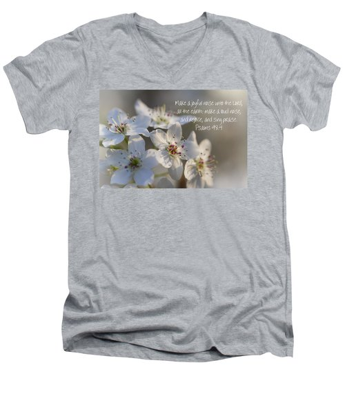 Make A Joyful Noise Unto The Lord Men's V-Neck T-Shirt by Kathy Clark