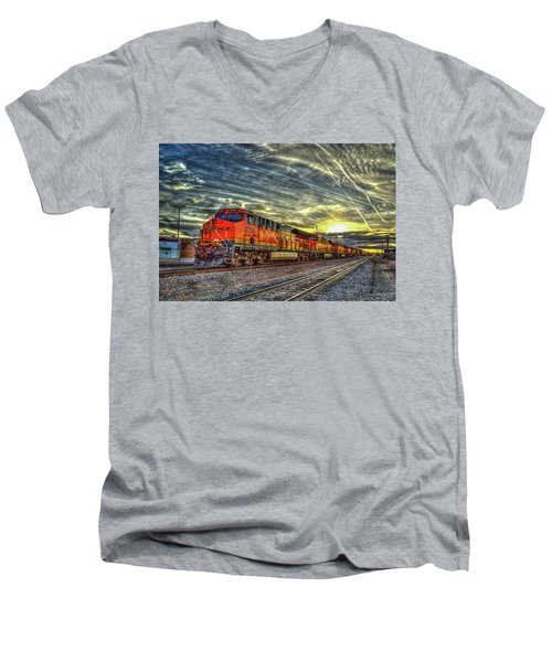 Make Way Resting B N S F Train Gallup New Mexico Art Men's V-Neck T-Shirt