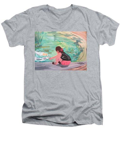 Making Friends Men's V-Neck T-Shirt