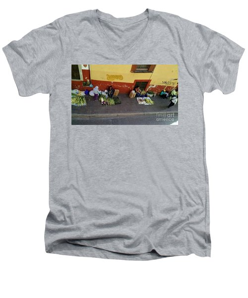 Making Souvenirs On Palm Sunday Men's V-Neck T-Shirt