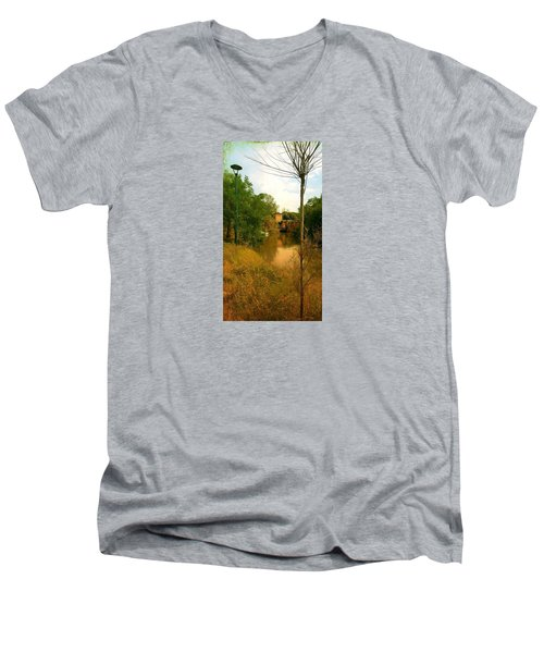 Men's V-Neck T-Shirt featuring the photograph Malamocco Canal No2 by Anne Kotan