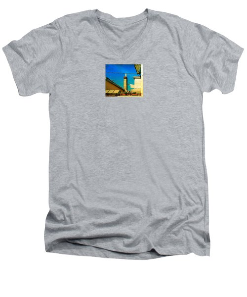 Men's V-Neck T-Shirt featuring the photograph Malamoccoskyline No1 by Anne Kotan