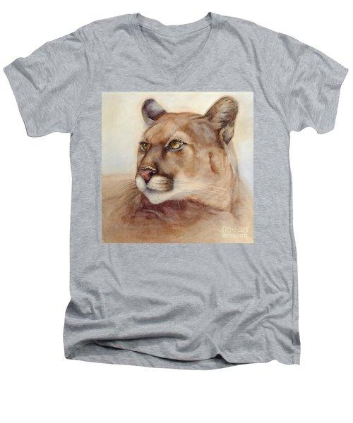 Male Cougar Men's V-Neck T-Shirt