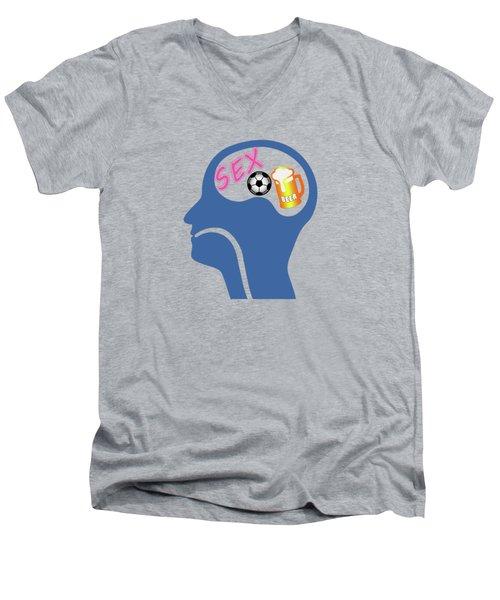 Male Psyche Men's V-Neck T-Shirt by Gaspar Avila