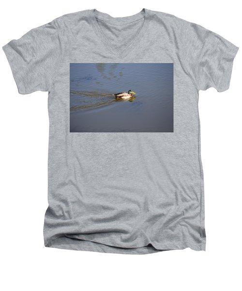 Mallard Duck Burgess Res Co Men's V-Neck T-Shirt