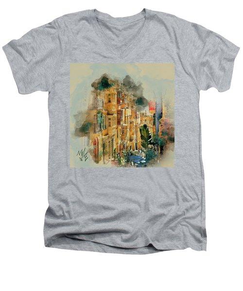 Maltese Street Men's V-Neck T-Shirt