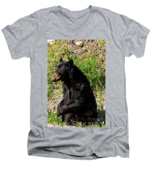 Mama Black Bear Men's V-Neck T-Shirt