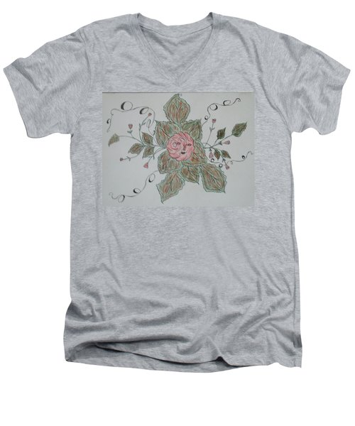 Mama Rose And Her Babies Men's V-Neck T-Shirt by Sharyn Winters