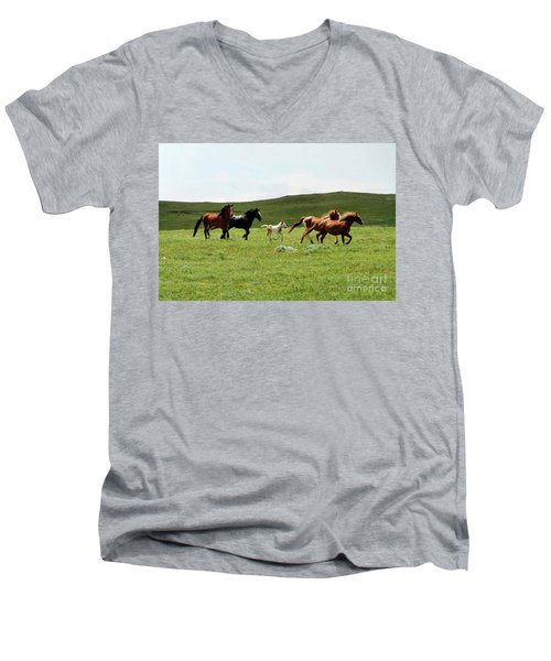 Mama's Little Foal Men's V-Neck T-Shirt