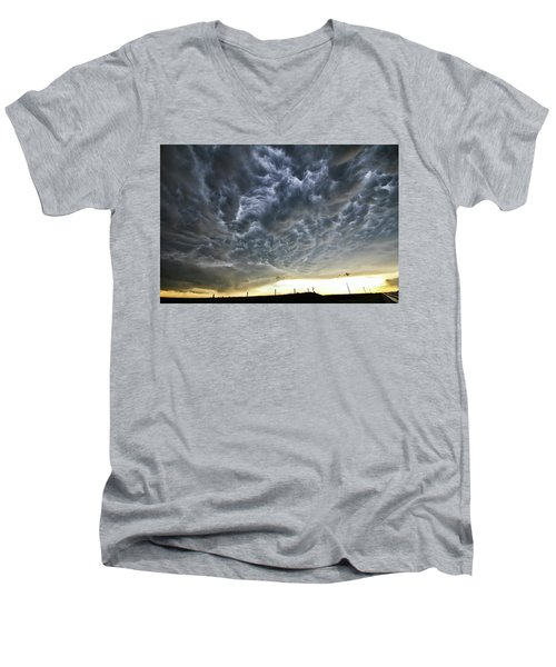 Mammatus Over Nebraska Men's V-Neck T-Shirt