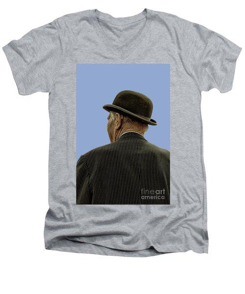 Man With A Bowler Hat Men's V-Neck T-Shirt