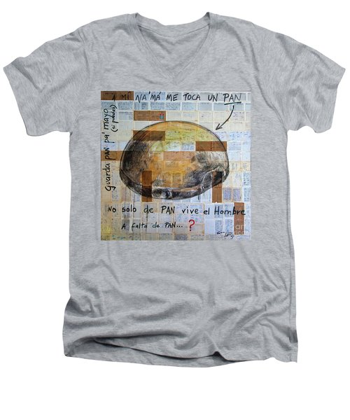 Mana' Cubano Men's V-Neck T-Shirt by Jorge L Martinez Camilleri