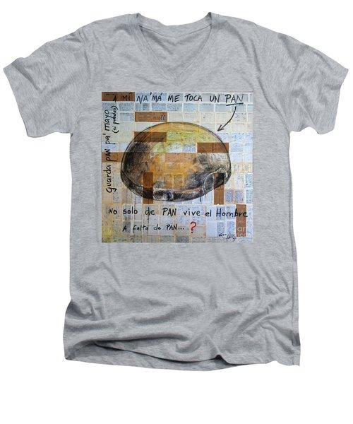 Mana' Cubano Men's V-Neck T-Shirt