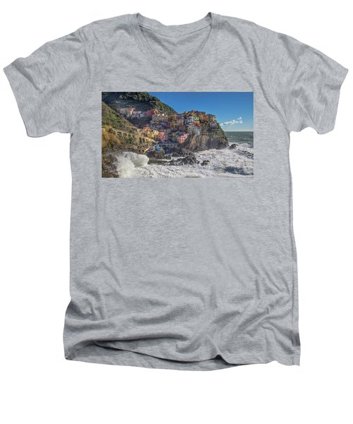 Manarola In Cinque Terre  Men's V-Neck T-Shirt