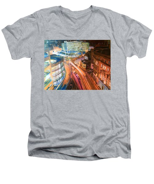 Manchester High Street Men's V-Neck T-Shirt