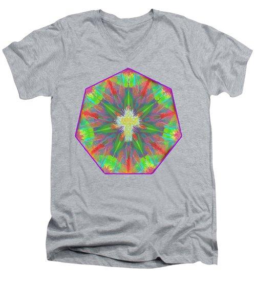 Mandala 1 1 2016 Men's V-Neck T-Shirt by Hidden Mountain
