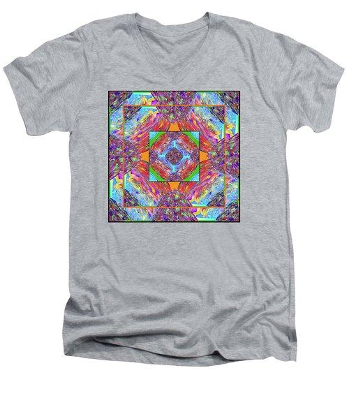 Mandala #1 Men's V-Neck T-Shirt by Loko Suederdiek