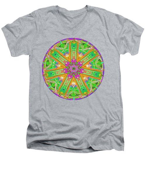 Mandala 12 27 2015 Kings And Priests Men's V-Neck T-Shirt by Hidden Mountain