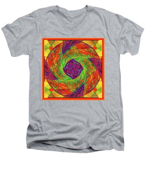 Mandala #55 Men's V-Neck T-Shirt by Loko Suederdiek