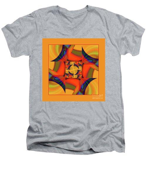 Mandala #56 Men's V-Neck T-Shirt by Loko Suederdiek
