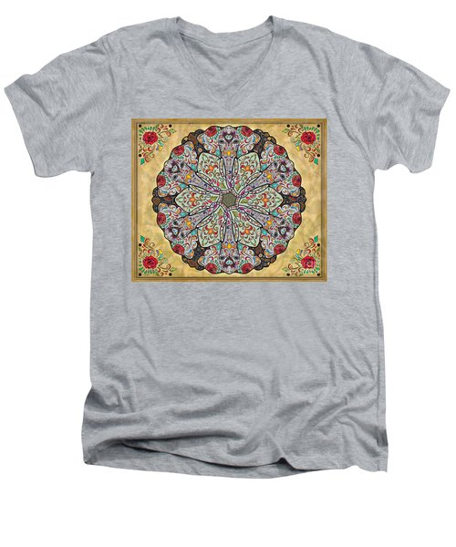 Mandala Elephants Sp Men's V-Neck T-Shirt