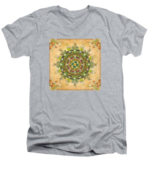 Mandala Flora Men's V-Neck T-Shirt