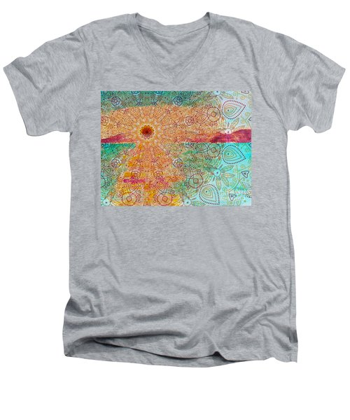 Mandala Sets Over The Dunes Men's V-Neck T-Shirt