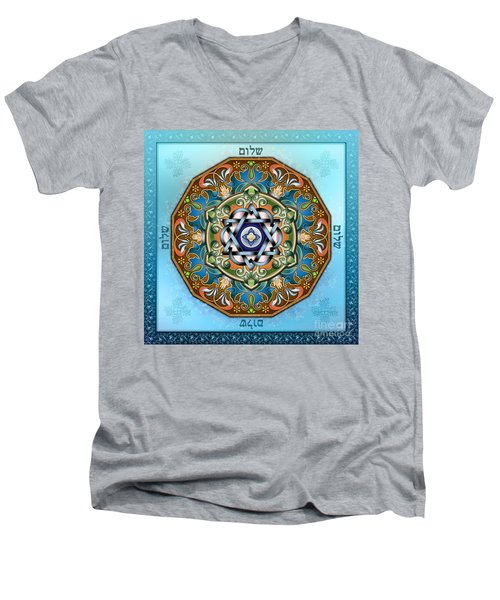 Mandala Shalom Men's V-Neck T-Shirt