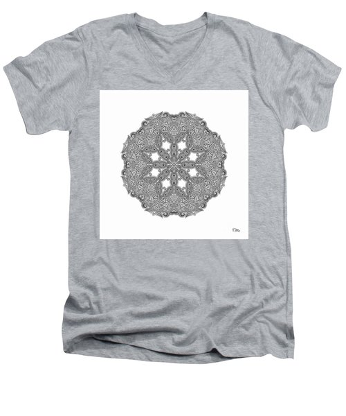 Mandala To Color Men's V-Neck T-Shirt by Mo T