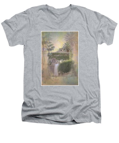 Men's V-Neck T-Shirt featuring the digital art Mandalay Bay by Christina Lihani