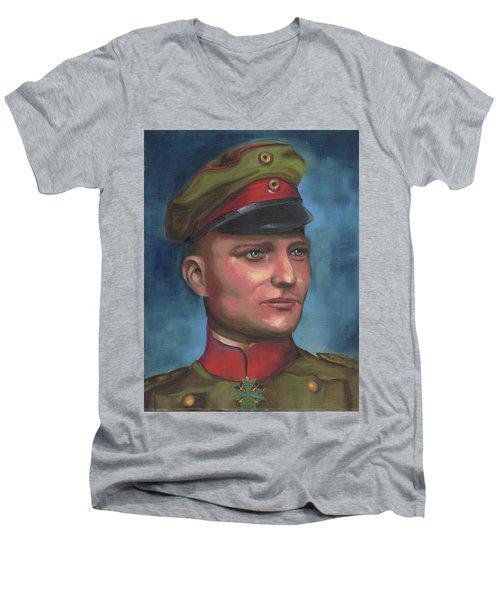 Manfred Von Richthofen The Red Baron Men's V-Neck T-Shirt