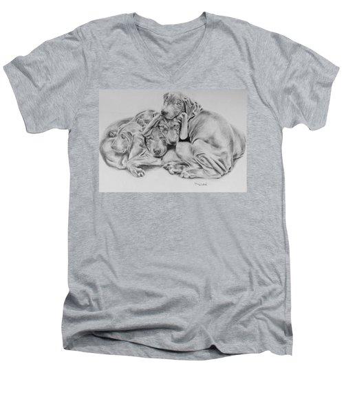 Mango's Pups Men's V-Neck T-Shirt