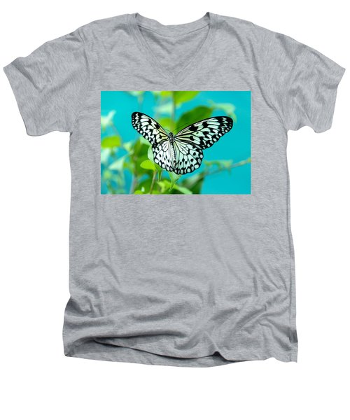 Men's V-Neck T-Shirt featuring the photograph Mangrove Tree Nymph by Jenny Rainbow